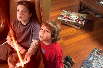 Josh Hutcherson and Jonah Bobo in Columbia Pictures? Zathura