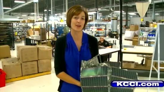 Iowa company makes flexible solar panels
