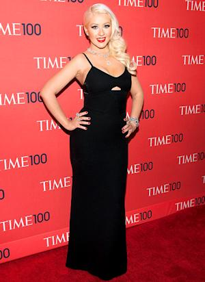 Christina Aguilera Looks Slim, Bares Cleavage at Time 100 Gala