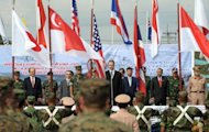 The opening ceremony of Cobra Gold 2010 military exercise at U-Tapao airport in Thailand&#39;s Rayong in 2010. The United States has shelved plans for a climate research project based out of Thailand, its embassy said Thursday, after political bickering within the kingdom delayed approval for the scheme