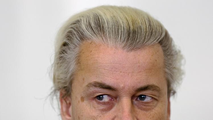 PVV leader Wilders speaks during an interview in The Hague
