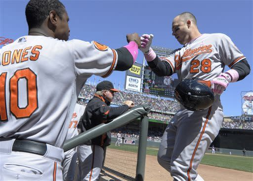 Orioles hit 3 home runs and beat Twins 6-0