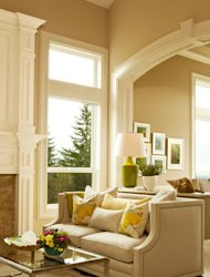 Tone on tone creates a soothing scene in this living room.
