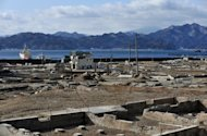 The tsunami-hit area in Otsuchi, Iwate prefecture nearly one year after the town was devastated by the March 11 tsunami. Cash earmarked for tsunami reconstruction work was diverted to unrelated projects, a Japanese government audit showed as residents of the devastated northeast voiced frustration over the slow pace of rebuilding