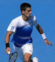 Novak Djokovic in action.