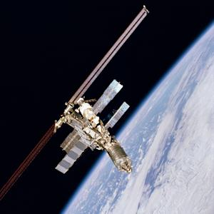 FILE -  This Feb. 16, 2001 file photo provided by NASA, shows the International Space Station as it orbits the Earth.  A discarded chunk of a Russian rocket is forcing six space station astronauts to seek shelter in escape capsules early Saturday, March 24, 2012. (AP Photo/NASA, FILE)