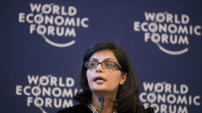 Founder and President of Heartfile, Pakistani Sania Nishtar, speaks during a debate on religion at the 43rd Annual Meeting of the World Economic Forum, WEF, in Davos, Switzerland, Friday, Jan. 25, 2013. Who created Davos, and why does it exist?  Questions about God and religion came up often at the World Economic Forum this year providing a break from the temporal concerns that tend to dominate Davos and showing that even the jet set is preoccupied with the meaning of life, at least in these turbulent times.(AP Photo/Michel Euler)