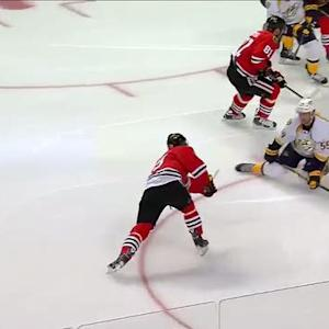 Toews rifles a shot past the blocker of Rinne