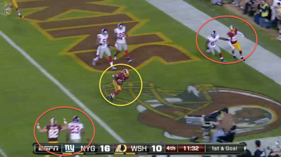 MNF: Redskins' play action beats the Giants