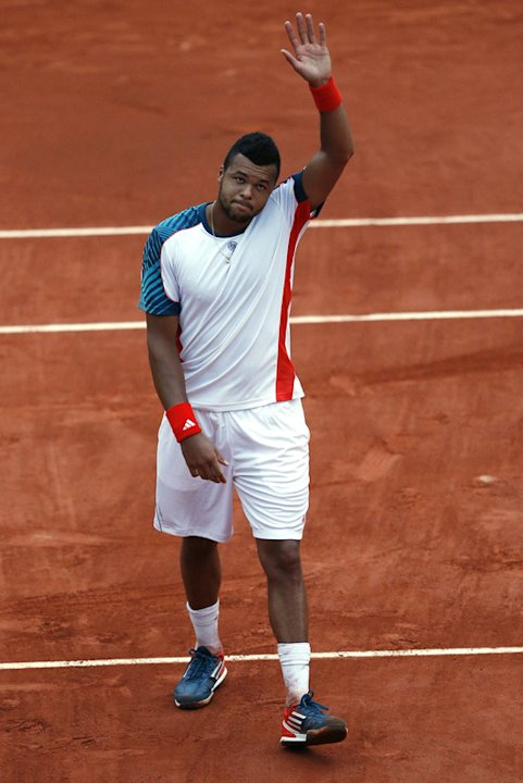 France's Jo-Wilfried Tsonga Gestures  AFP/Getty Images