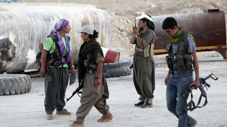 File picture of PKK fighters in an intensive security deployment in Makhmur