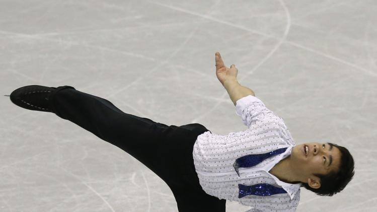 Oda of Japan performs during men's short programme at the ISU Grand Prix of Figure Skating Final in Fukuoka
