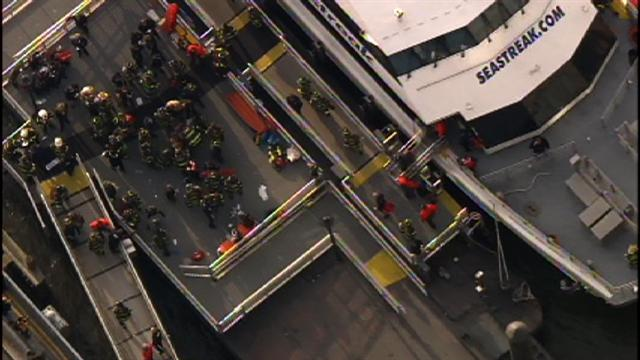 Ferry crash in NYC injures dozens