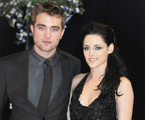 Robert Pattinson and Kristen Stewart attend the UK Premiere of &#39;The Twilight Saga: Breaking Dawn Part 1&#39; at Westfield Stratford City in London on November 16, 2011 -- Getty Premium