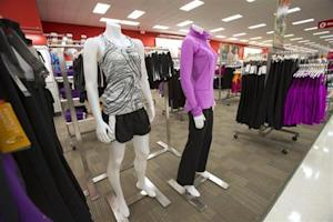 Shelves are stocked at Target's store in Guelph, Ontario