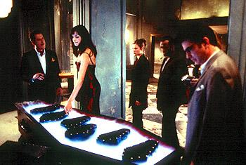 Geoffrey Rush , Famke Janssen , Ali Larter , Taye Diggs and Peter Gallagher in Warner Brothers' House On Haunted Hill
