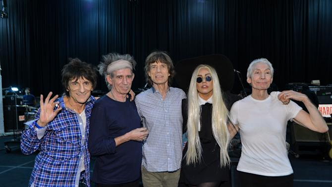 The Rolling Stones Rehearse With Their Special Guest Lady Gaga In Preparation For Their Pay-Per-View Concert