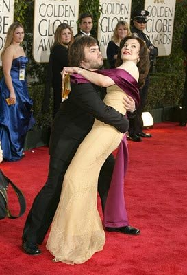 Jack Black, Laura Kightlinger Golden Globes - 1/25/2004