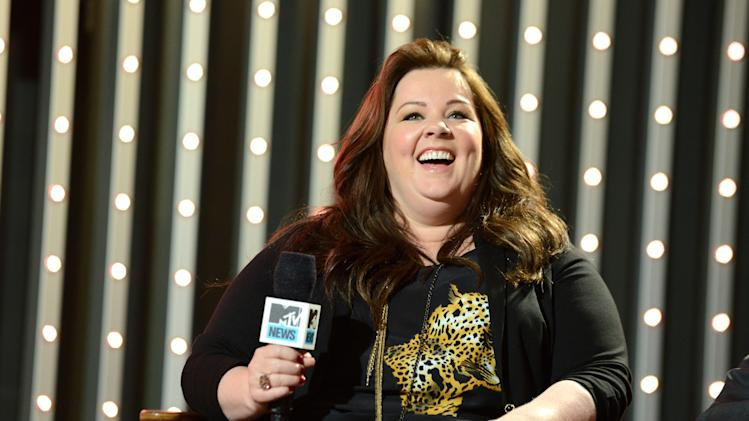 """Cast member of """"The Heat"""" actress Melissa McCarthy is seen at """"The MTV Movie Awards Sneak Peek Week"""" on Thursday, April 11, 2013, in Universal City, Calif. (Photo by Jordan Strauss/Invision for MTV/AP Images)"""