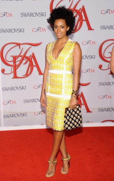 Solange Knowles attends the 2012 CFDA Fashion Awards wearing Marni, at Alice Tully Hall on June 4, 2012 in New York City. (Photo by Jamie McCarthy/Getty Images)