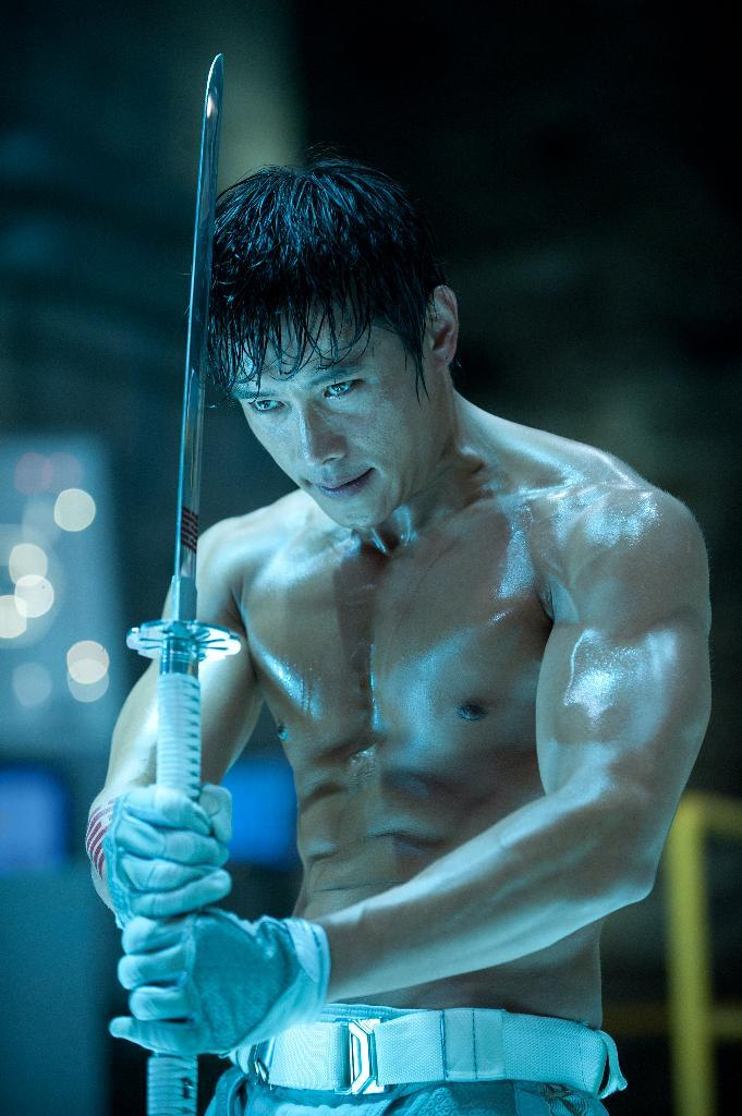 "This film image released by Paramount Pictures shows Byung-Hun Lee in a scene from ""G.I. Joe: Retaliation."" (AP Photo/Paramount Pictures, Jaimie Trueblood)"