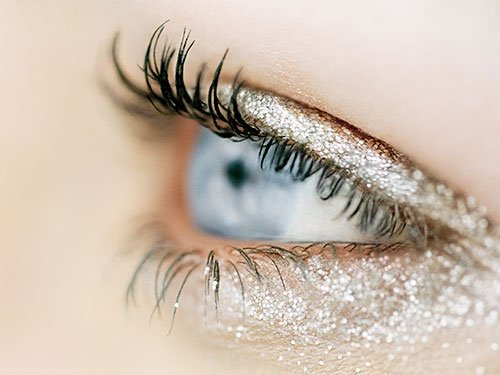 Wearing shimmer on your eyes
