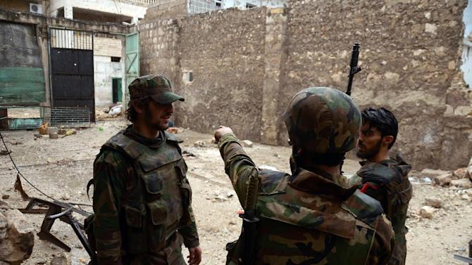 Syrian army soldiers have been trapped in a hospital in Jisr al-Shughur since last week