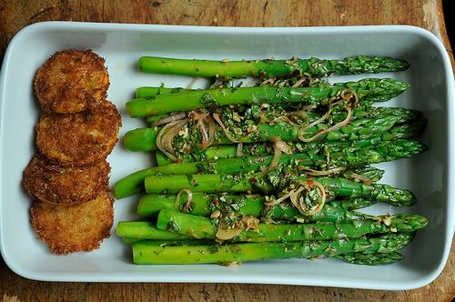 Thai Inspired Asparagus Salad with Fried Meyer Lemon
