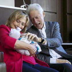 Chelsea Clinton Reveals Grandpa Bill Does In Fact Help Change Granddaughter's Diapers