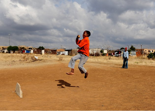 Kids Play Cricket In Botshabelo