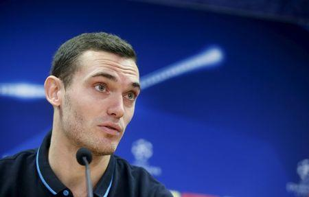 Barcelona's Thomas Vermaelen attends a news conference at the Joan Gamper training camp