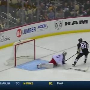 Curtis McElhinney Save on Sidney Crosby (01:17/2nd)
