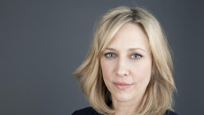 """Actress Vera Farmiga poses for a portrait on Monday, March 18, 2013 in New York. Farmiga stars as Norma Bates in the A&E series """"Bates Motel,"""" premiering Monday, March 18, 2013 at 10 p.m.  (Photo by Amy Sussman/Invision/AP)"""