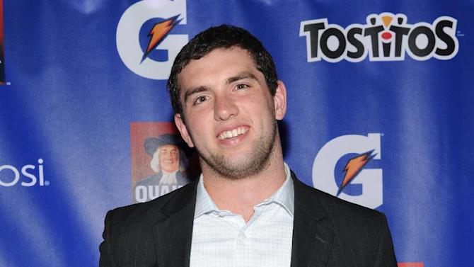 IMAGE DISTRIBUTED FOR PepisCo - Andrew Luck of the Indianapolis Colts and Pepsi MAX Rookie of the Year Nominee attends the PepsiCo Pre-Super Bowl Party, at Masquerade Night Club, on Friday, Feb. 1, 2013 in New Orleans. (Photo by Evan Agostini/Invision for PepsiCo/AP Images)