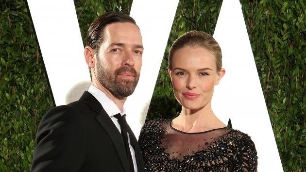 Michael Polish and Kate Bosworth attend the 2012 Vanity Fair Oscar Party Hosted By Graydon Carter at Sunset Tower in Los Angeles on February 26, 2012 -- Getty Premium