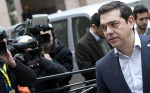 Greek Prime Minister Alexis Tsipras, second right, …
