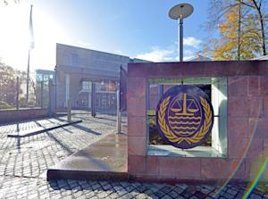 The entrance to the International Tribunal for the …