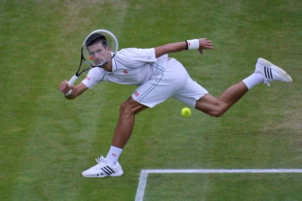 Forehand shot at the 2012 Wimbledon semifinal