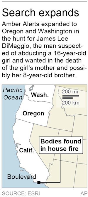 Map locates Boulevard, Calif., where the bodies of …