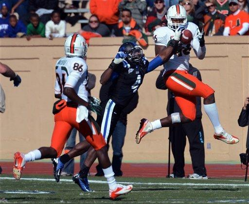 Johnson, Miami hold off Duke 52-45