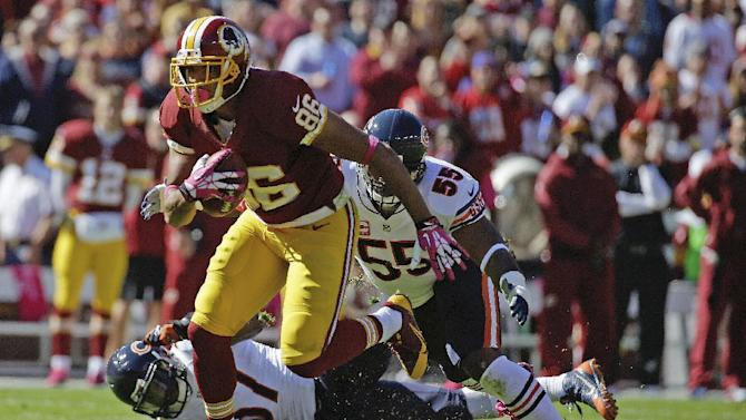 Redskins TE Reed 5th in NFL in catch percentage