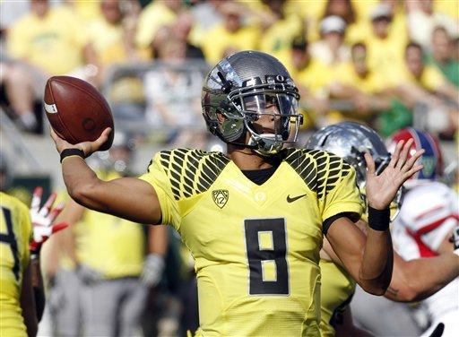 No. 4 Oregon beats Fresno State 42-25