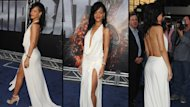 Rihanna arrives at the Los Angeles premiere of &#39;Battleship&#39; at Nokia Theatre L.A. Live, Los Angeles, on May 10, 2012 -- Getty Premium