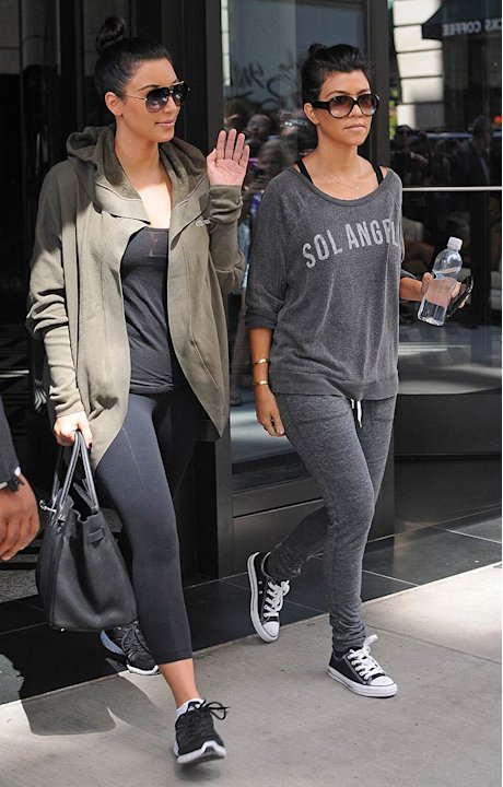 Kim Kourtney Kardahsian Leave Gym