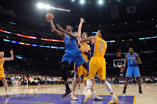 Thunder beat Lakers 102-93 for 5th straight win