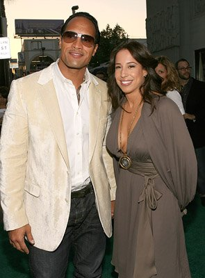 Dwayne 'The Rock' Johnson and wife Dany at the LA premiere of Columbia Pictures' Gridiron Gang