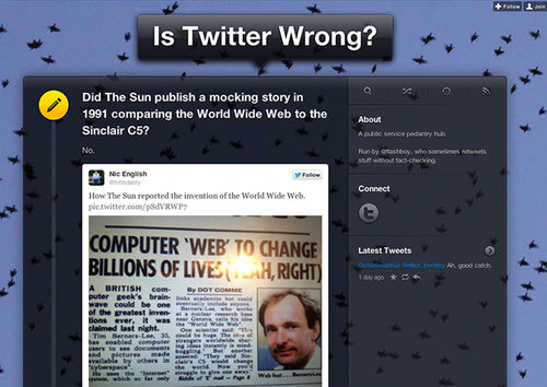 WEBSITE OF THE DAY: Is Twitter Wrong?. WebsiteOfTheDay, Websites, Software, Online 0
