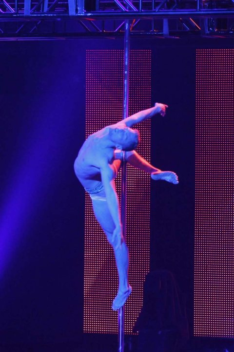 "Steven Retchless (pole dancer/aerialist) is one of the Top 48 acts on Season 6 of ""America's Got Talent."""