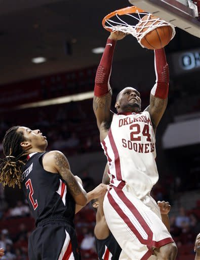 Oklahoma claws out 64-55 win over Texas Tech