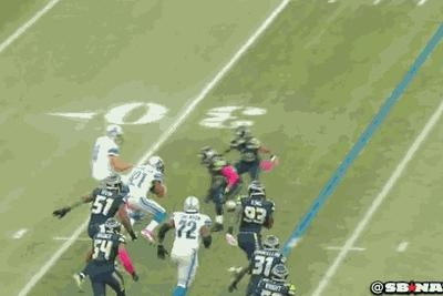 Matthew Stafford considers blocking, decides against it
